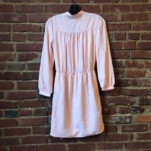 Tobi Dresses - TOBI Light Pink Long-Sleeved Wrap Dress